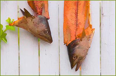 Fish Heads Art Print