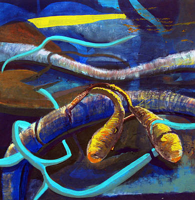 Separation Mixed Media - Fish by Maryam Salamat