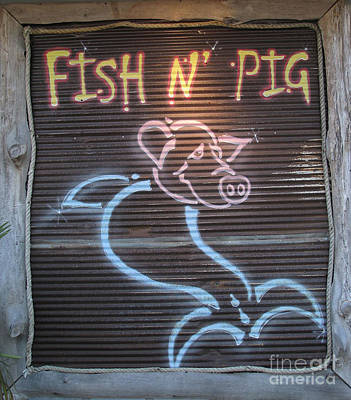 Photograph - Fish N' Pig by Donna Brown