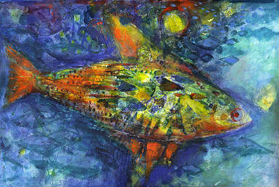 Tropical Fish Mixed Media - Fish by Nato  Gomes