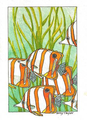 Fish School Art Print