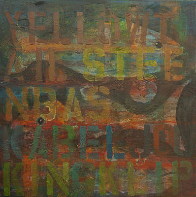 Painting - Fish Tales Orange by Jillian Goldberg