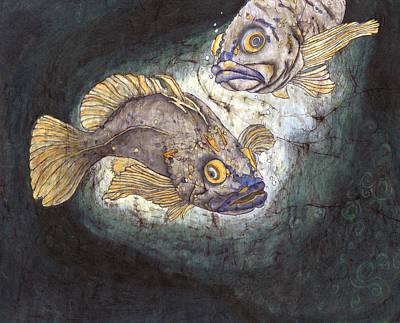 Fish Tales Art Print by Shari Carlson