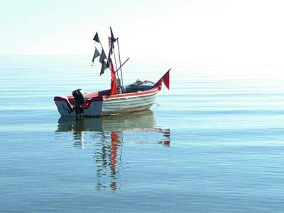 Fisher-boat In Baltic Sea Art Print by Km-foto