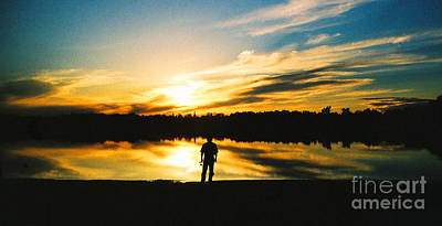 Photograph - Fisherman And Sunset by Patricia Januszkiewicz