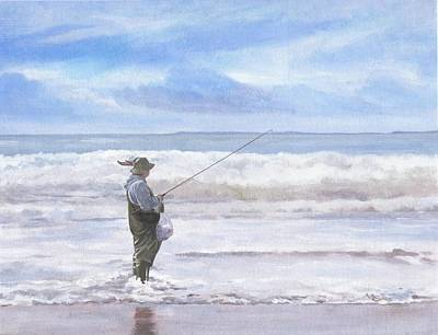 Painting - Fisherman In Wales by Maureen Carter