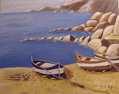 Painting - Fisherman's Boats by Debra Piro