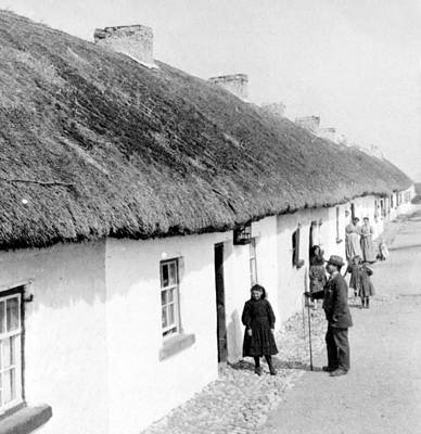 Fishermans Cottages In Claddagh Ireland Art Print