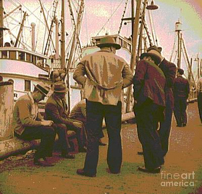 Collier Photograph - Fishermen At San Francisco Bay by Padre Art