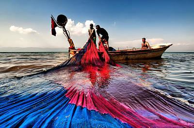 Fishing - 11 Art Print by Okan YILMAZ