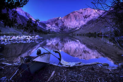 Mammoth Photograph - Fishing At Convict Lake by Sean Foster