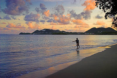 Best Ocean Photograph - Fishing At Dawn- St Lucia by Chester Williams