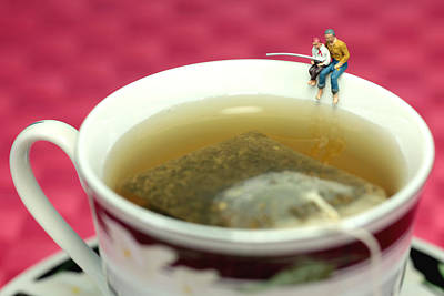 Scale Digital Art - Fishing At The Edge Of A Cup Of Tea by Paul Ge