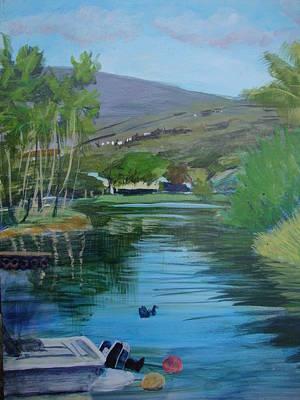 Painting - Fishing Boat At Dock by Eva Anderson-Terada