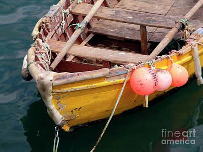 Fishing Boat Print by Carlos Caetano