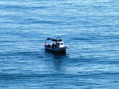 Photograph - Fishing Boat In Costa Del Azahar Peniscola Spain by John Shiron