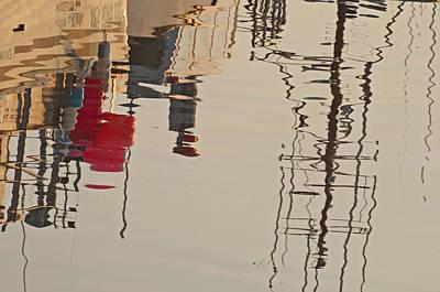 Fishing Boat Reflections Art Print