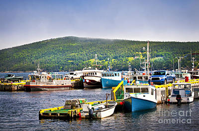Lobster Traps Photograph - Fishing Boats In Newfoundland by Elena Elisseeva