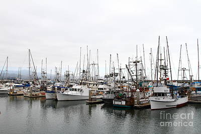 Fishing Boats In Pillar Point Harbor At Half Moon Bay California . 7d8196 Art Print by Wingsdomain Art and Photography