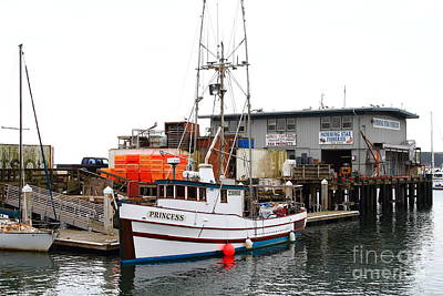 Fishing Boats In Pillar Point Harbor At Half Moon Bay California . 7d8210 Art Print by Wingsdomain Art and Photography