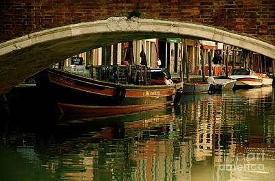 Photograph - Fishing Boats Murano Italy by Louise Fahy