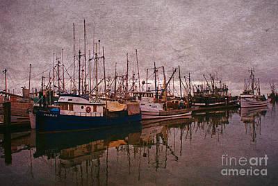 Fishing Boats Of Steveston-ca Art Print by Randy Harris