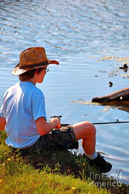 Photograph - Fishing Boy by Anjanette Douglas