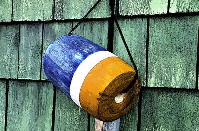 Coastal Town Digital Art - Fishing Buoy Work Number 3 by David Lee Thompson