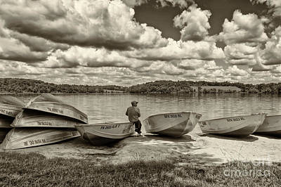 Fishing By The Boats 2 Art Print by Jack Paolini