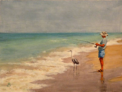 Fishing Friends Art Print