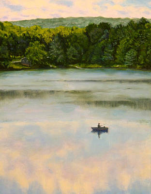 Painting - Fishing In The Clouds by Joe Bergholm