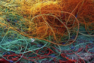 Fishing Nets Print by Carlos Caetano