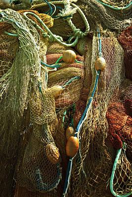 Net Photograph - Fishing Nets by Joana Kruse