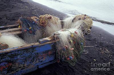 Photograph - Fishing Nets Ometepe Nicaragua by John  Mitchell