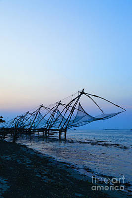 Netting Photograph - Fishing Nets On An Indian Coast by Inti St. Clair