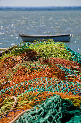 Art Print featuring the photograph Fishing Nets by Trevor Chriss