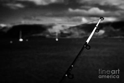 Fishing On The County Antrim Coast Northern Ireland Art Print by Joe Fox
