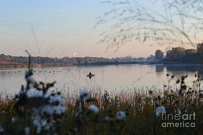 Photograph - Fishing On The Lake  by Justine Gersich