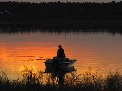 Photograph - Fishing On Tower Lake by RobLew Photography