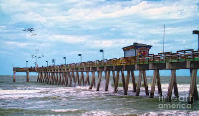Photograph - Fishing Pier In Florida by Gina Cormier