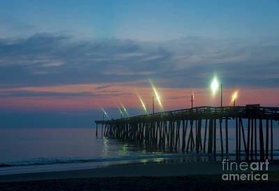 Fishing Pier Sunrise Art Print by John Greim