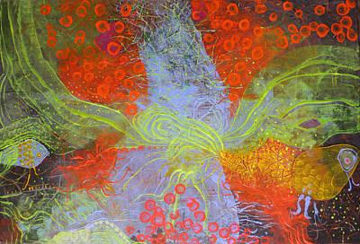 Art Print featuring the painting Fishing Rabbit by Lolita Bronzini