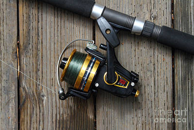 Fishing Rod And Reel . 7d13542 Art Print by Wingsdomain Art and Photography
