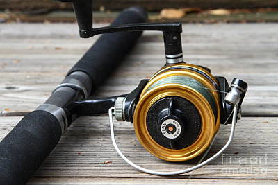 Fishing Rod And Reel . 7d13547 Art Print by Wingsdomain Art and Photography