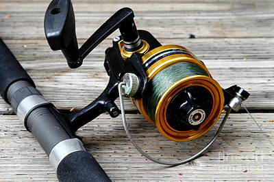 Fishing Rod And Reel . 7d13549 Art Print by Wingsdomain Art and Photography