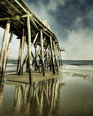 Of Birds Photograph - Fishing Shack Pier by Jody Trappe Photography