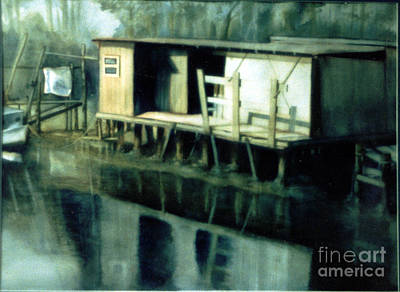 Fishing Shed In Cedar Key Original by Lorelei Bolger