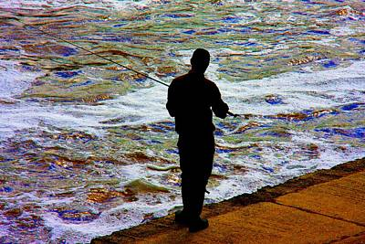 Photograph - Fishing The Foam by Ed Lukas