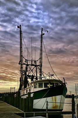 Fishing Vessel At Dawn Original by Maxim Sivyi