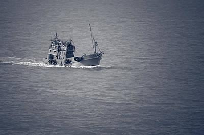Photograph - Fishing Vessel by Ray Shiu
